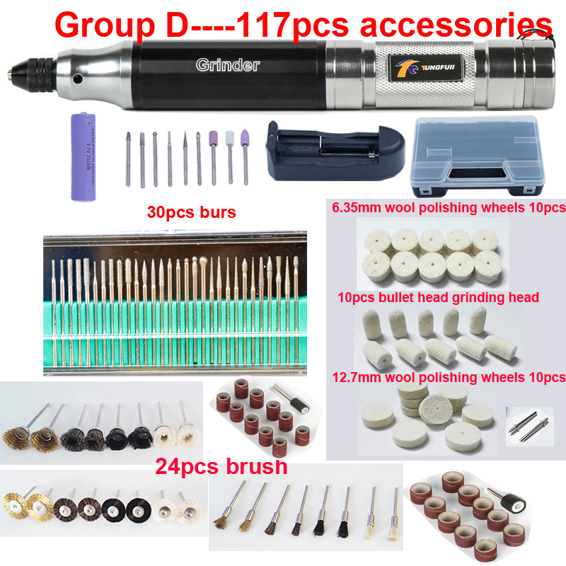 Tungfull Cordless Drill Mini Portable Electric Mill Electric Drill Charge Electric Engraving Pen Drilling Polishing Machine