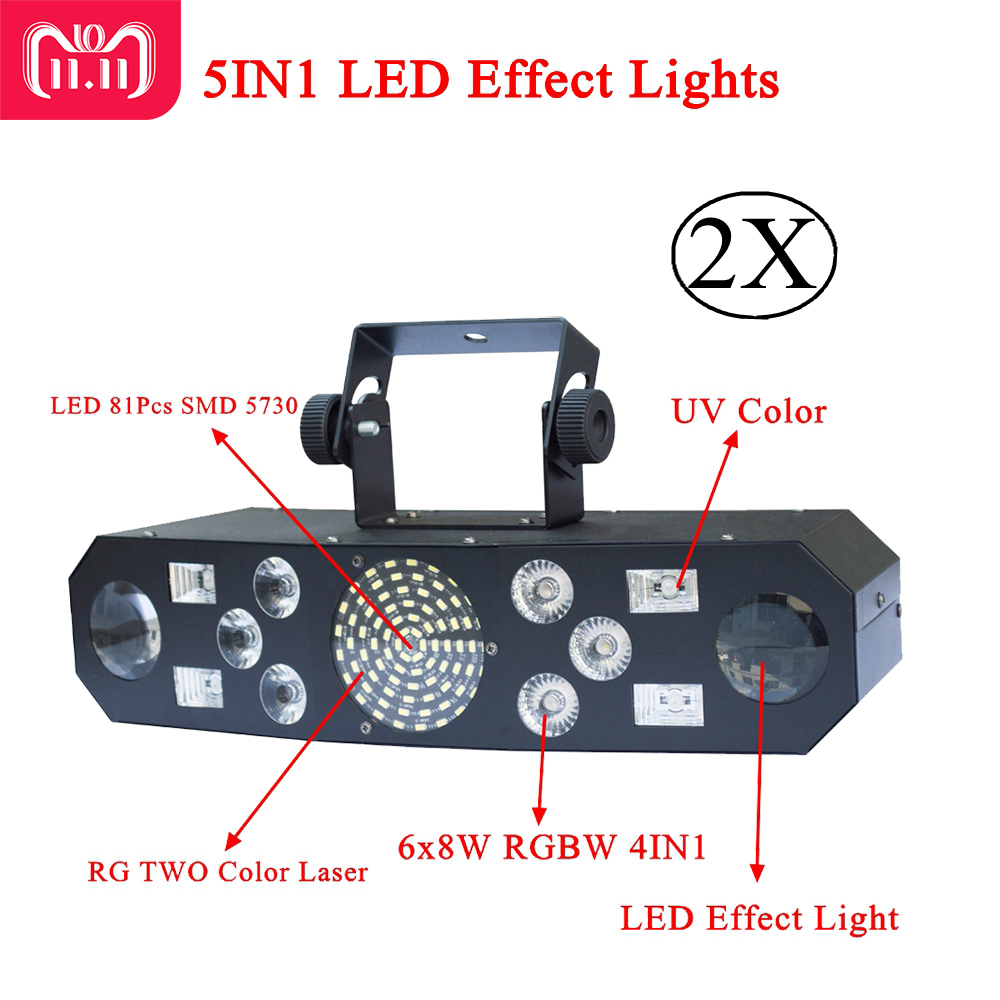 New 5IN1 DJ Laser stage light Full Color RGB or 48 RG Patterns Projector 4X3W UV CREE Single Color LED Stage Effect Lighting morris william full color patterns and designs