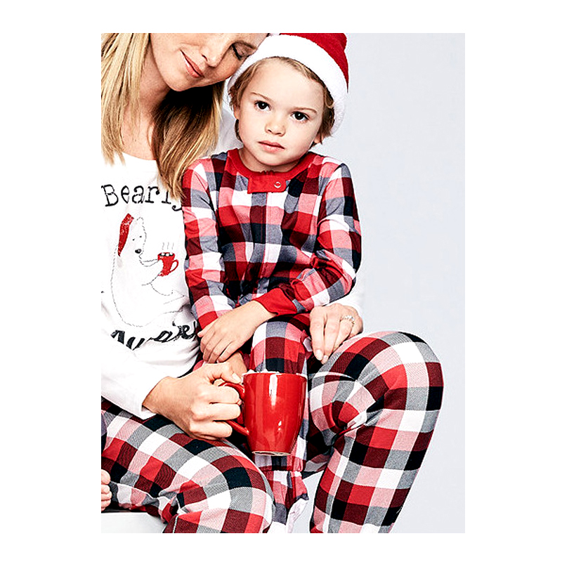 Mother Father And Daughter Son Family Matching Clothes Sets Bear Plaid  Pajamas Dad Mom Mama Mommy Baby Christmas Family Look -in Matching Family  Outfits ... 9293a8ebf