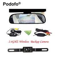 4 3 Car TFT LCD Monitor Mirror Wireless Reverse Car Rear View Backup Camera Kit