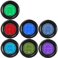 IZTOSS 2 7 Colors Blue Red Car Oil Press Gauge 52mm Auto Pressure Meter Digital LED Tint Len Clock
