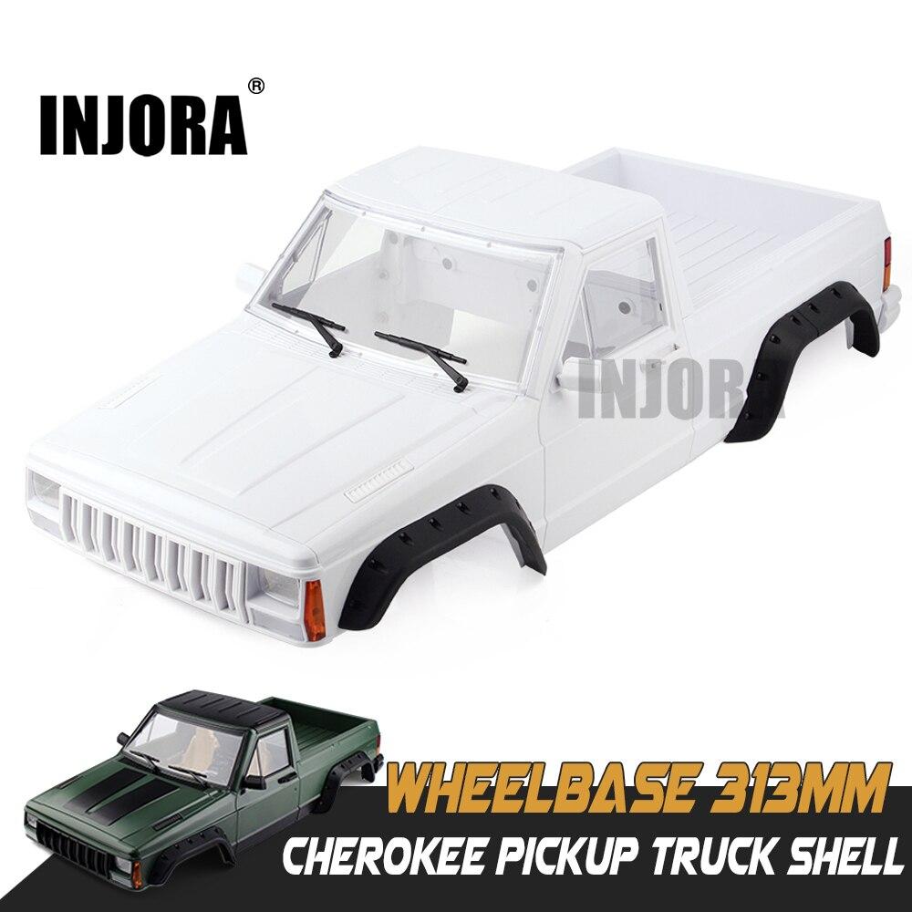 INJORA de plástico duro de 313mm distancia entre ejes camión coche Kit de carcasa para 1/10 RC Crawler Axial SCX10 y SCX10 II 90046, 90047