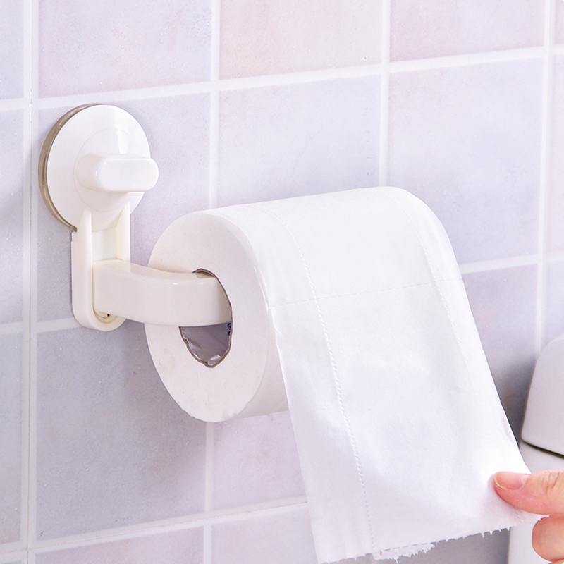 Sanitary Toilet Vacuum Suction Bathroom Roll Paper Holder