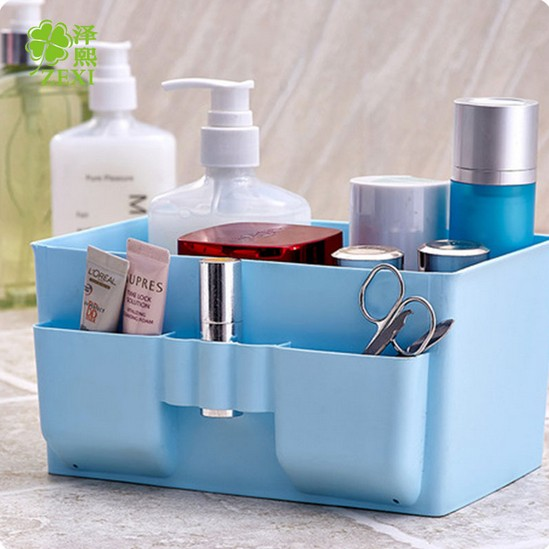 1PC Home Office Desktop Decor Makeup Cosmetic Storage Box Bag Organiser Foldable Makeup Stationary Container OK 0211