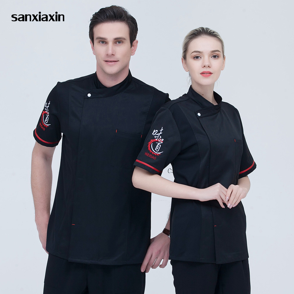 High Quality Unisex Chef Uniform Restaurant Catering Chef Workwear Food Service Kitchen Chef Jacket Cooker Work Clothes 5 Colors