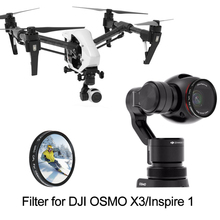 УФ CPL ND4 ND8 ND16 постепенное Цвет Звезда фильтр для вдохновлять 1 Drone X3 Камера Осмо ручной карданный Камера объектива аксессуар