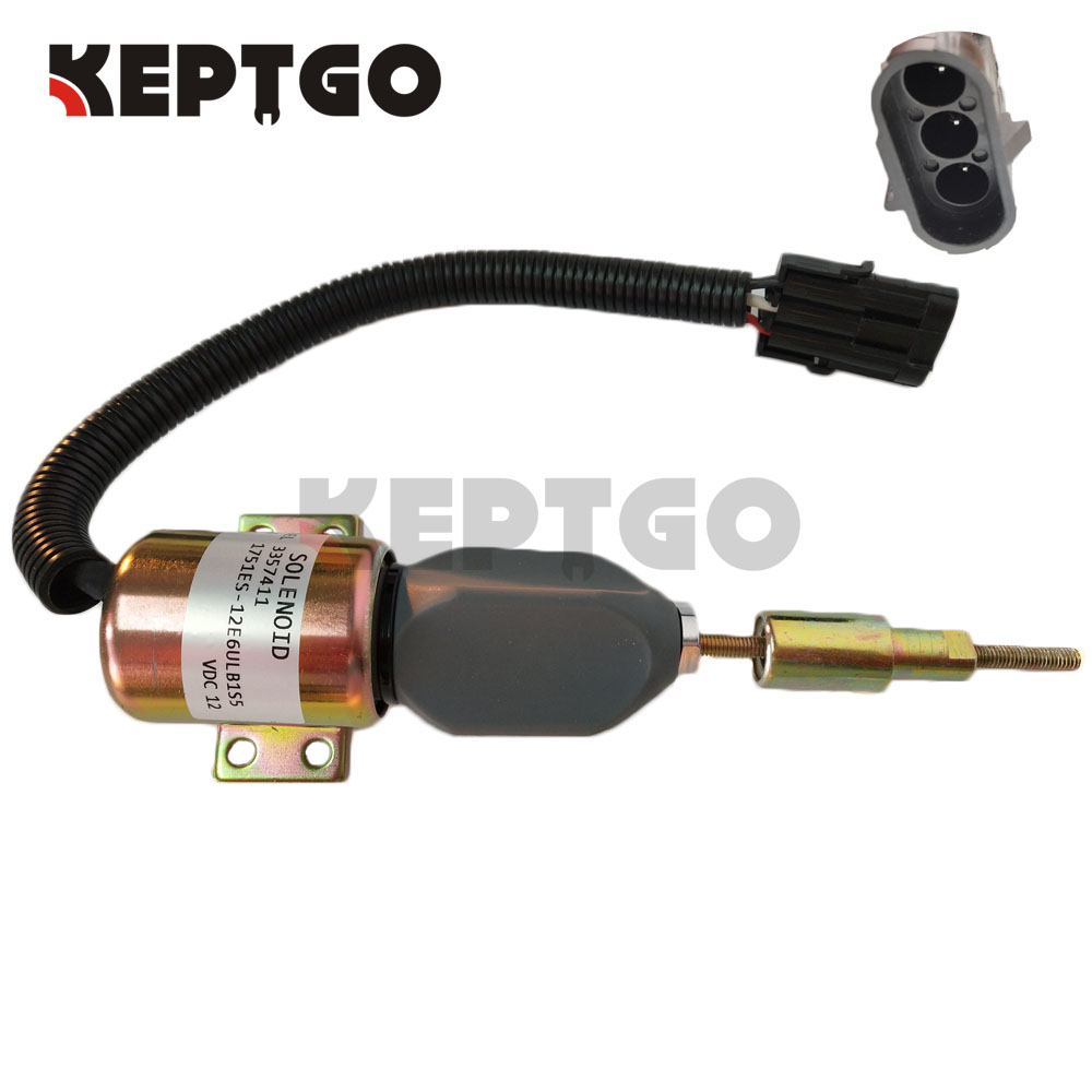 3357411, 1751ES-12E6ULB1S5, 907120120014, 12V Stop Solenoid For Cummins3357411, 1751ES-12E6ULB1S5, 907120120014, 12V Stop Solenoid For Cummins