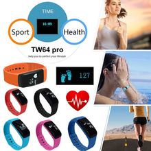 TW64 pro Bluetooth Smart Wristband Fitness Tracker Pedometer For apple IOS xiaomi Android PK D21 H30 Fit bit Sport smartband
