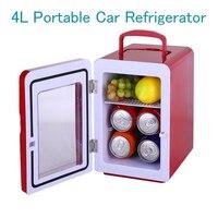 4L Portable Car Refrigerator Transparent Door Cosmetics Freezer Mini Household Food Cold Storage Refrigerator CW8 4L
