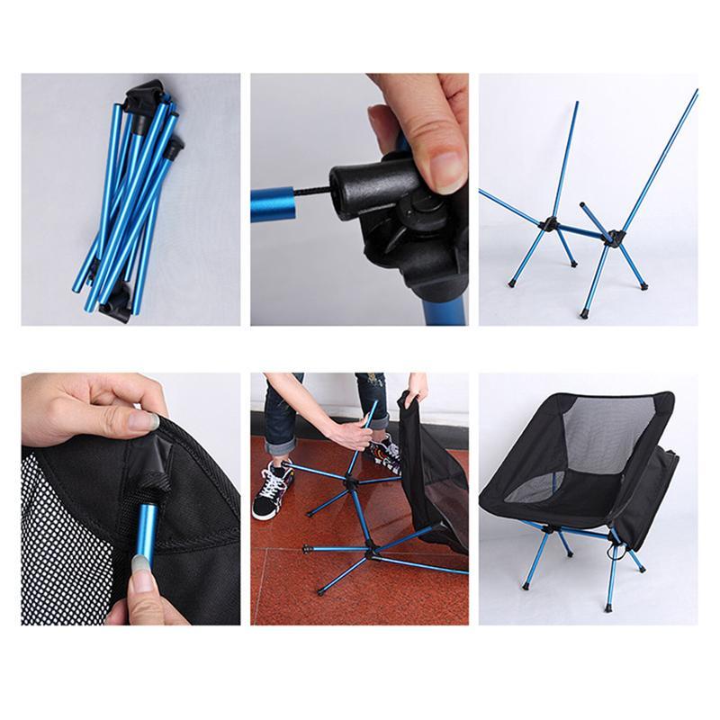 Leve e Dobrável Cadeira para Pesca Caminhadas