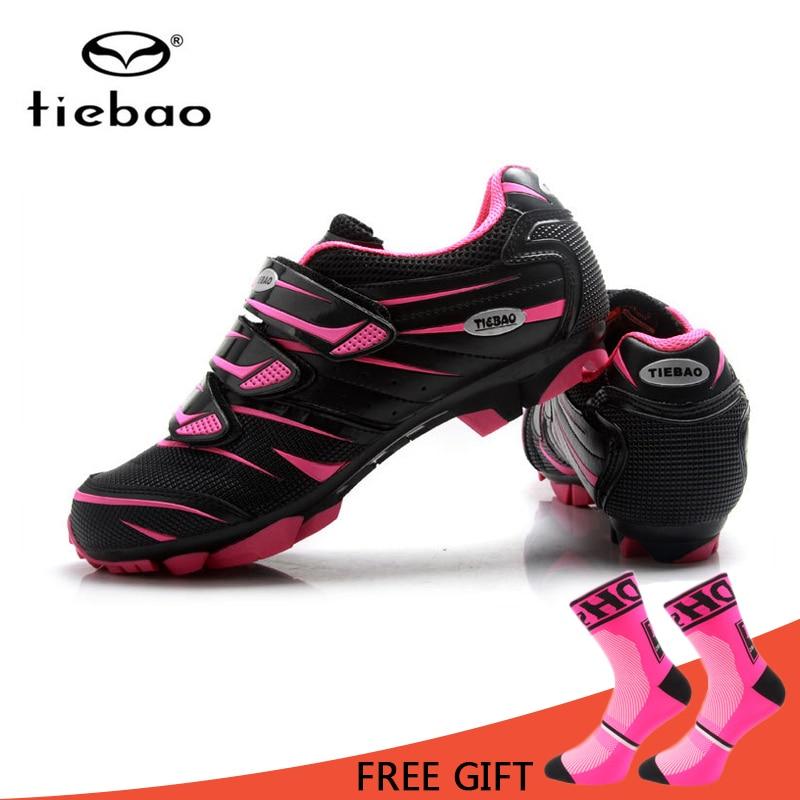 Tiebao MTB Bike Shoes Women Cycling Self Lock Shoes Skidproof Sapatilha Ciclismo Shoes Triathlon Bicycle Racing