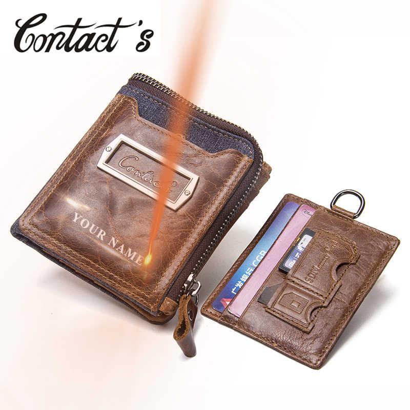 45e3978fec8e Genuine Leather Men Wallets Card Holder Small Money Bag Men Portomonee  Fashion Coin Purse High Quality