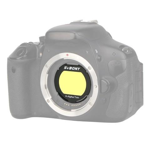 svbony h alpha filtro 7nm para eos c clipe