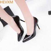 HEVXM 2017 Корейский весной новый женская мода сексуальная ночной клуб высокие ботинки женщин в порядке с острым ПР профессиональные высокие каблуки насосы