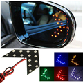 2016 New Brand 2pcs Car styling 14 SMD LED Arrow Panel  Light Car Side Mirror Turn Signal Car Rear View Mirror Indicator Light