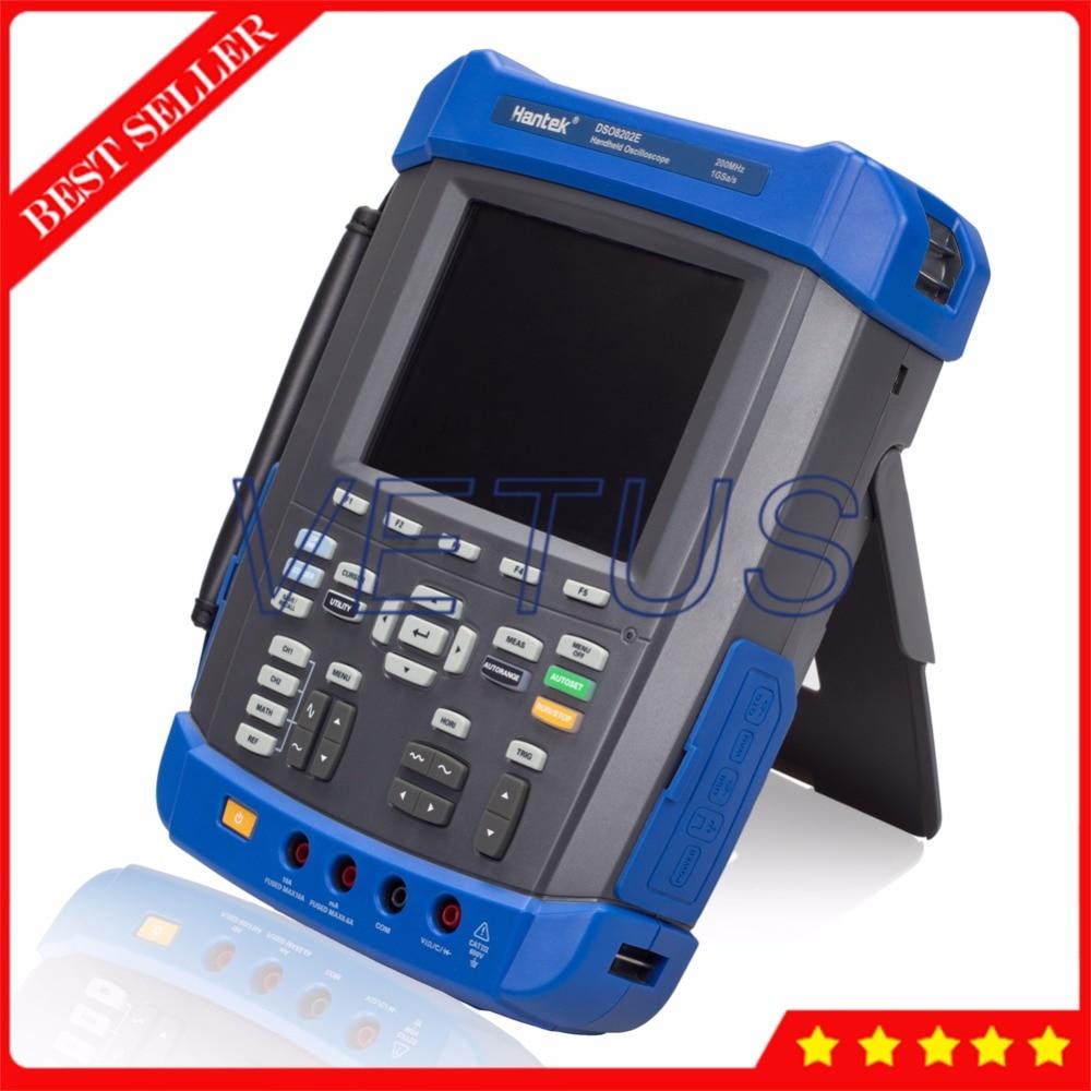 6 in 1 Hantek DSO8202E Digital Scopemeter USB Storage Lcd Automotive Oscilloscope with Handheld DMM Arbitrary Waveform generator