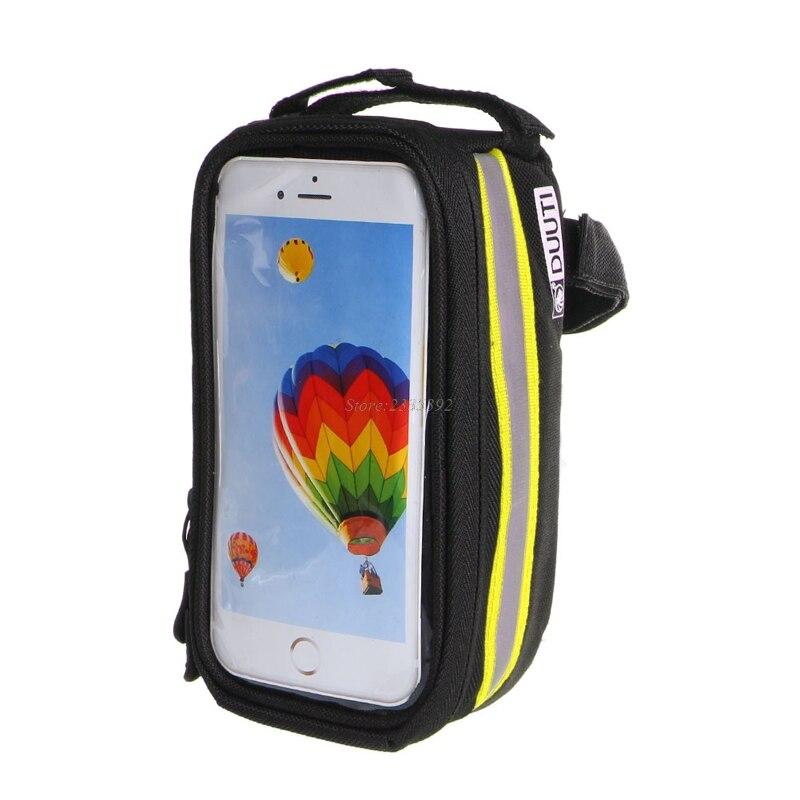 2017 новые велосипед Рама Передняя труба сумка для сотового телефона MTB велосипеда Сенсорный экран сумка JUN13