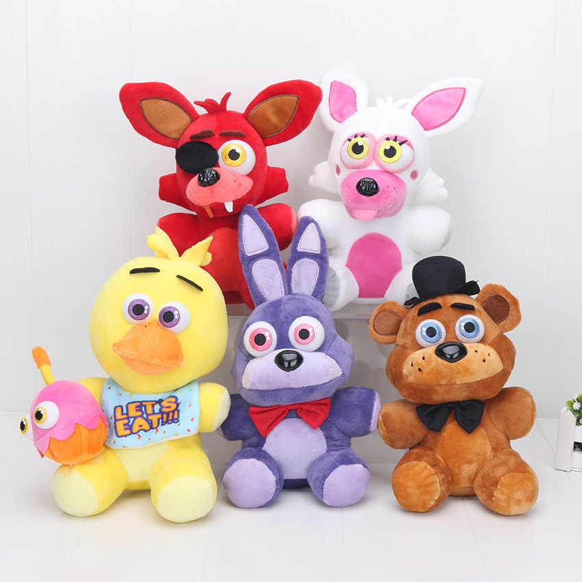 New 25 cm 4 Mangle FNAF Foxy das cinco noites no freddy Freddy Fazbear boa qualidade stuffed plush doll toy