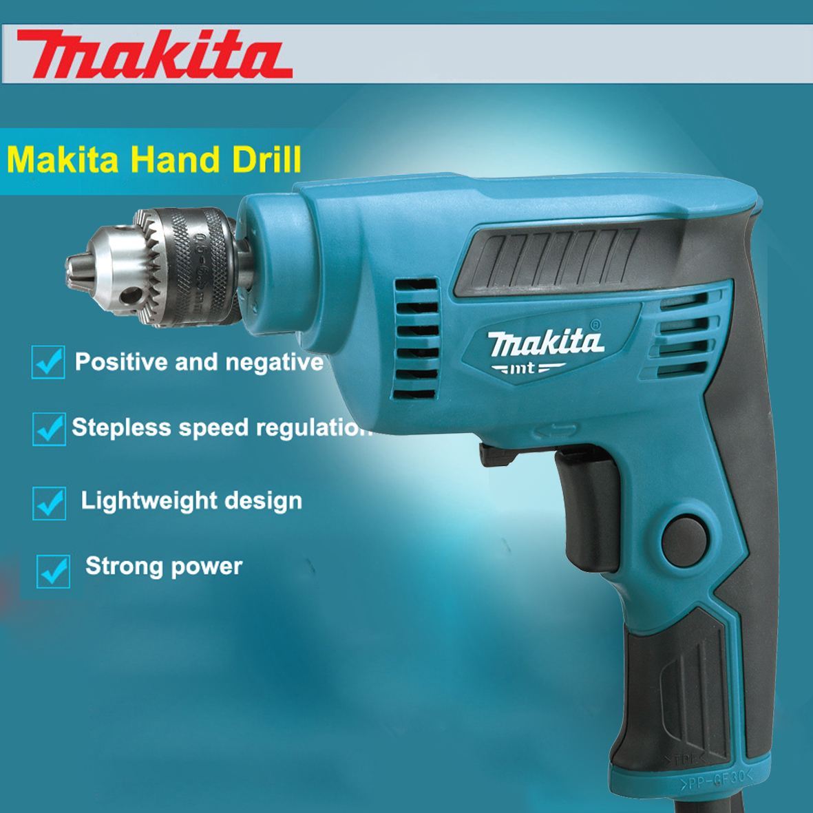 New Japan Makita Electric Drill M6501B Hand Drill High-Speed Multi-Function Speed Control  Forward and Reverse 4,500 RPM 230WNew Japan Makita Electric Drill M6501B Hand Drill High-Speed Multi-Function Speed Control  Forward and Reverse 4,500 RPM 230W