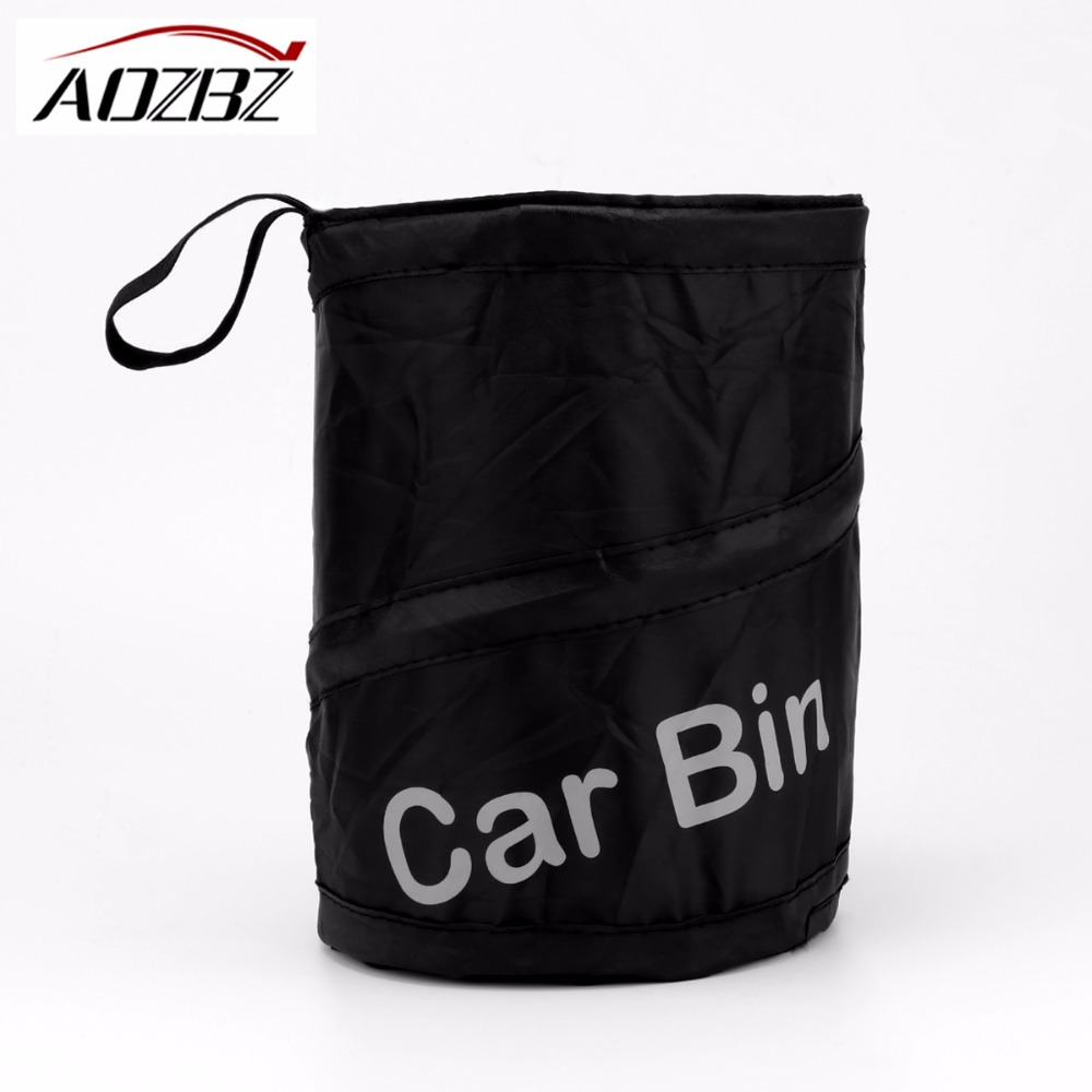 car garbage can pop up trash can auto traveling collapsible litter bag bin dia 6 5 accessories. Black Bedroom Furniture Sets. Home Design Ideas