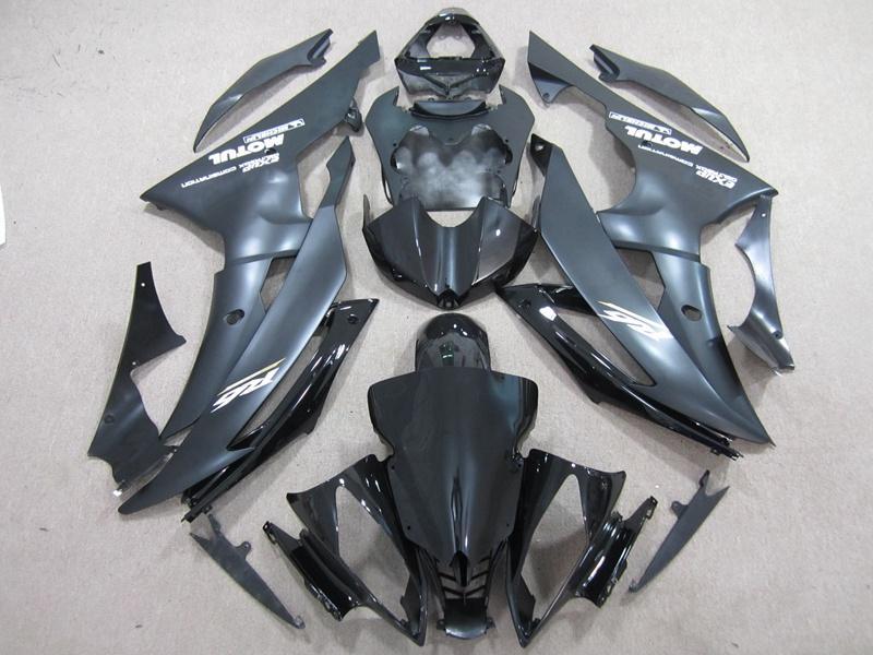 Высокое качество инъекций для кузова yamaha R6 комплект обтекателей 2008 2009 2010 2011 2012 2013 матовый черный