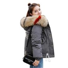 abrigos mujer invierno 2019 Fur Hooded Short Parka Women Winter Coat Down Cotton Padded Jacket Winter Jacket Women Coat Female стоимость