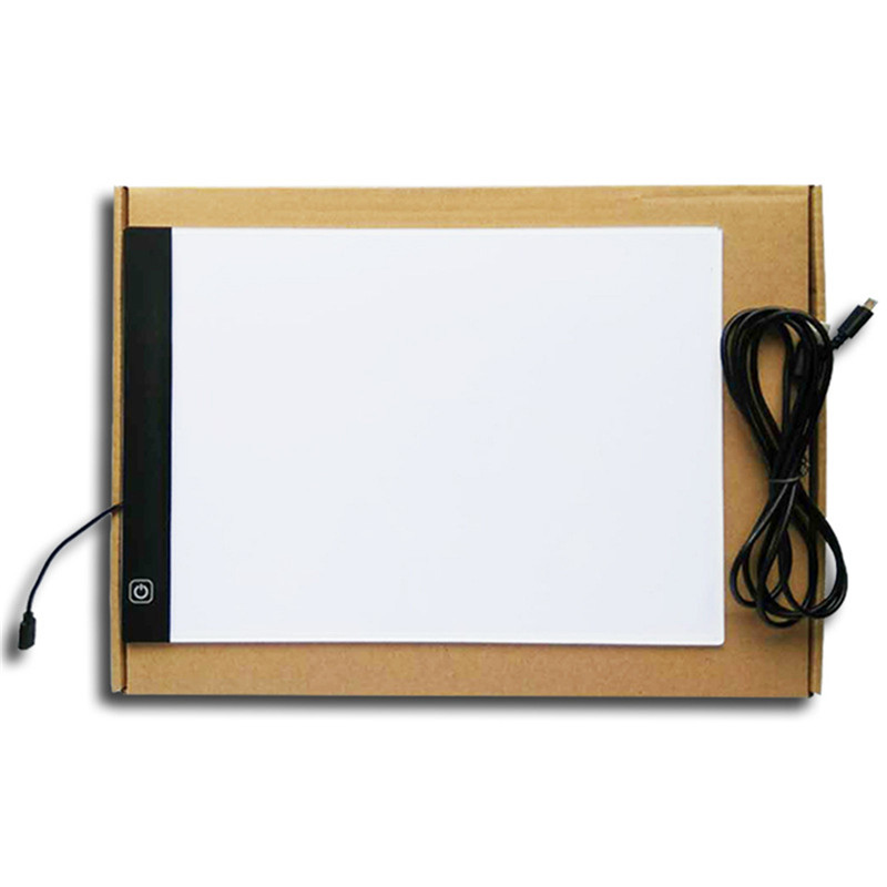 White Lighting Led night light DC 5V Acrylic Light Box A4 LED Artist Tattoo Art Stencil Board Light 35*335*40mm USB Night Light