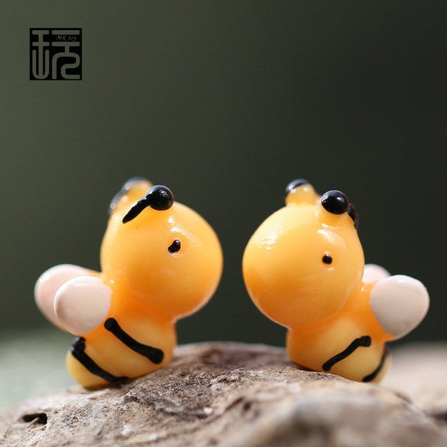 Kartun Lucu Lebah Lebah Madu Mini Miniatur Diy Terrariums Patung