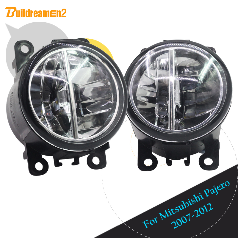 Buildreamen2 2 X Car LED Lamp Fog Light Daytime Running Light DRL High Bright 12V For
