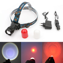 On Sale T6 LED Headlamp Headlight Rechargeable Head Light Built in Battery With AC Car Charger