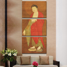 3pcs Abstract Buddha Modern Home Decor Buddha Canvas Print Painting Wall Art Picture for Living Room Modular Picture No Framed