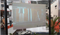 Free Shipping! 1.5m*4.5m wall projection screen Rear projection film,Black film for shop window