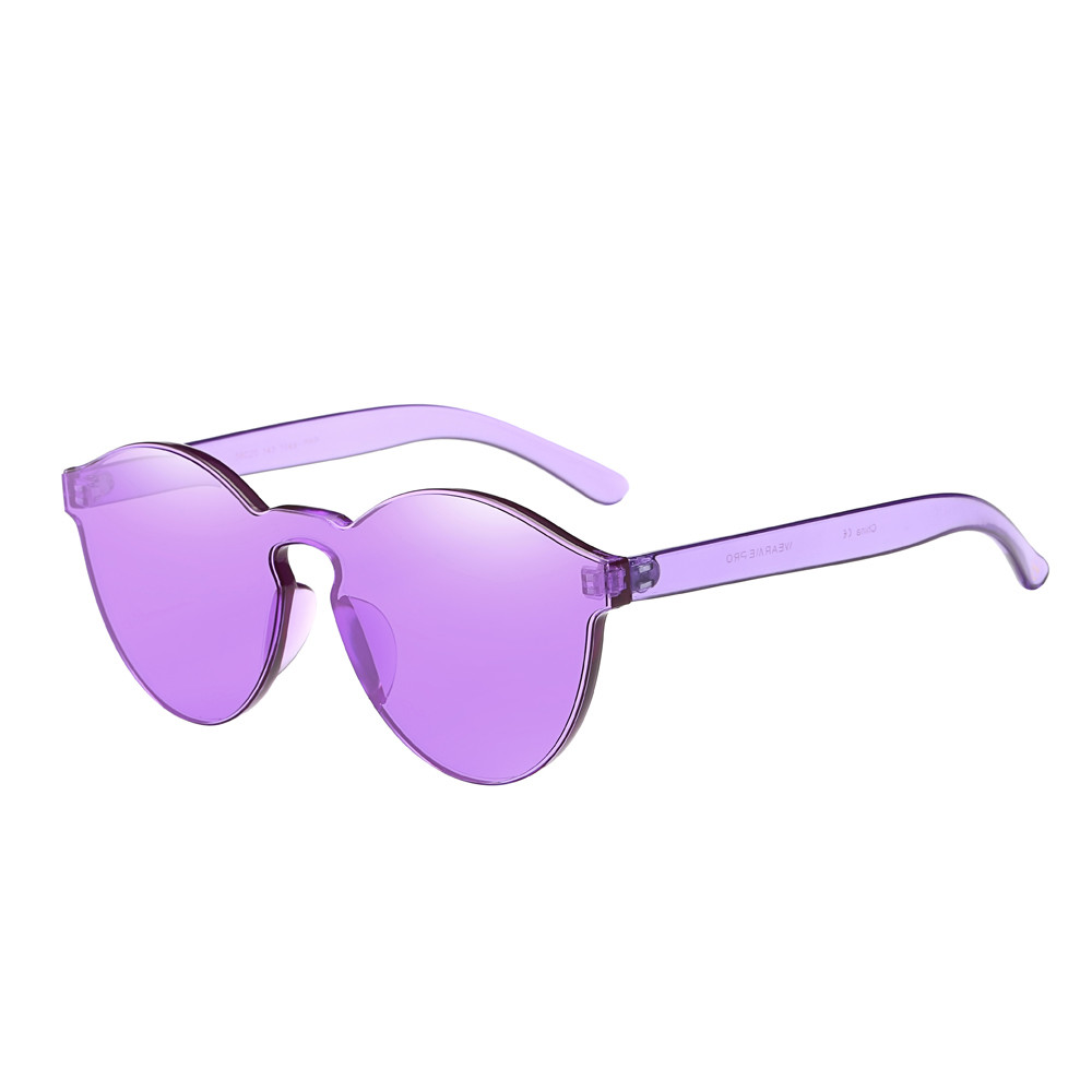 Oval Sunglasses Women Fashion Cat Eyes Shades Sunglasses Integrated UV Candy Colored Glasses Steampunk Goggles in Nine Colour 1