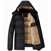 Brand New Winter Jacket Men Thick Warm Solid Cotton Parka Mens Winter Jackets And Coats Plus