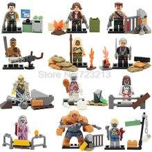 12 pçs/set Exército Zombie Figura Set Bioquímico Resident Evil Nemesis Alice SWAT Kits Modelo de Blocos de Construção Tijolos de Brinquedo
