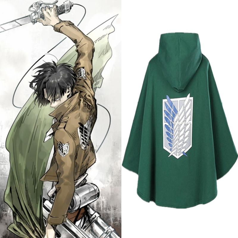 cloak Attack on Titan Cloak Shingeki no Kyojin Scouting Legion Cosplay Costume anime cosplay Cape mens clothes Levi/Rivaille
