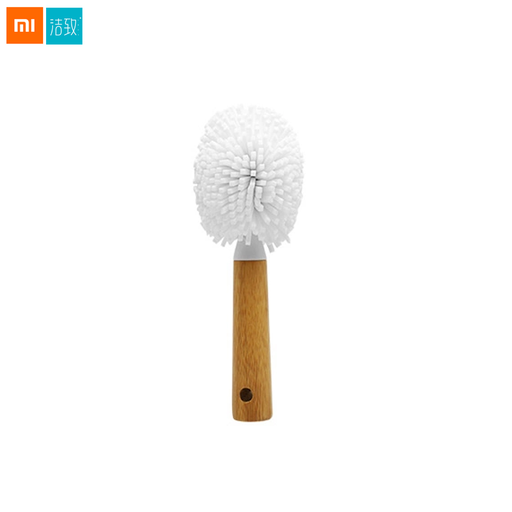 Xiaomi Chainlink JieZhi Red Wine Cup Brush EVA Material With Bamboo Handhold Cleaning Tool 360 Full Range Cleaning