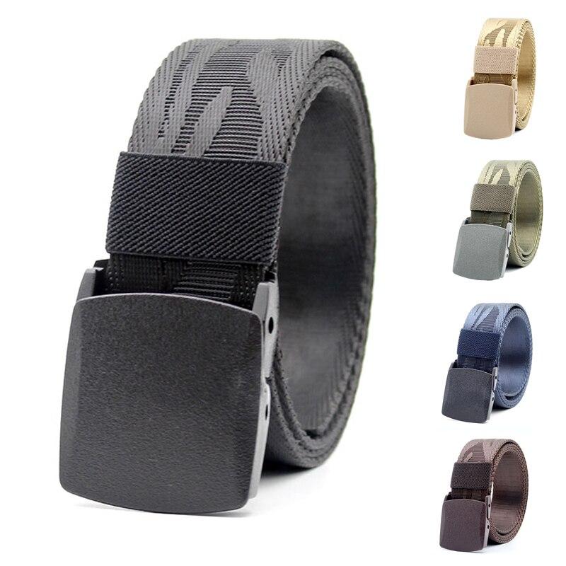 Men's Tactical   Belt   Military Army Nylon   Belt   Equipment Men Women High Quality Plastic Automatic Buckle Luxury Jeans Waist   Belt