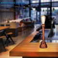 Table Lamp Retro Coffee Shop Wood Vintage Loft Style 220V Edison Bulb Restaurant Bedroom Nightstand Desk Lamp