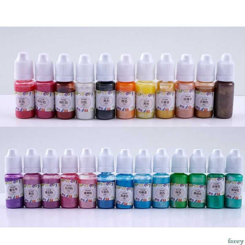 10G UV Resin Ultraviolet Curing Liquid Pearl-luster Pigment Dye DIY Art Crafts  Fluorescent color concentrate