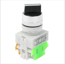 цена на AC 660V 10A DPST NO/NC 2 Position ON/OFF Rotary Selector Latching Push Button Switch