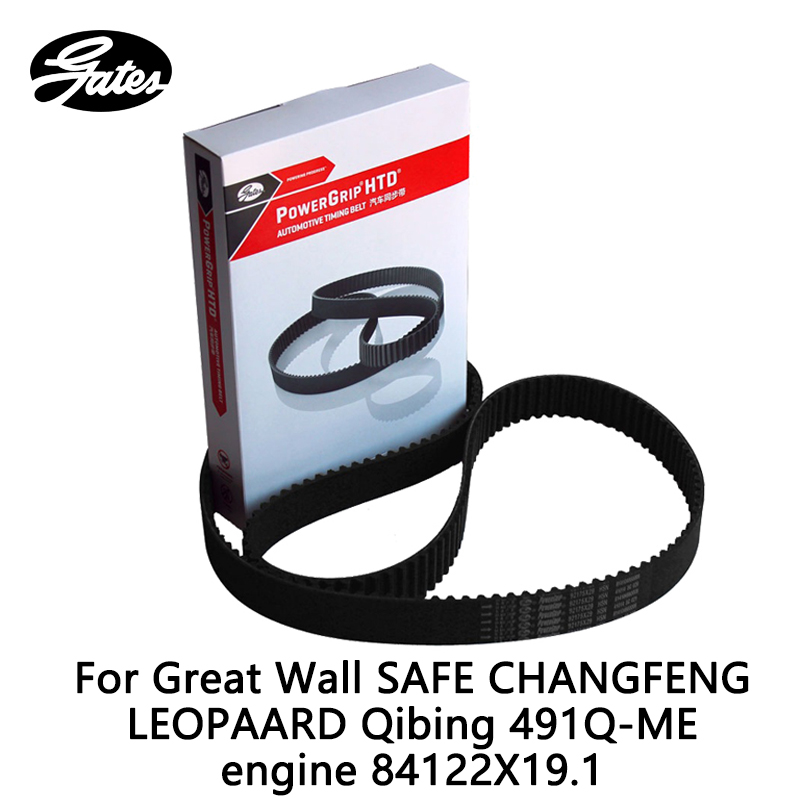 Gates Timing Belt For Great Wall SAFE CHANGFENG LEOPAARD Qibing 491Q-ME engine 84122X19.1