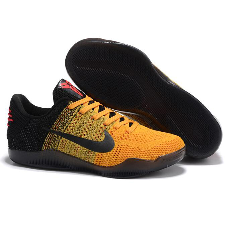 cheap for discount 675cb e3ea7 Nike Kobe 11 Elite Low Bruce Lee Men's Basketball Shoes, Abrasion Resistant  Breathable Non Slip, Yellow & Black 822675 706-in Basketball Shoes from  Sports ...