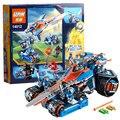 Kits de edificio modelo compatible con lego knights nexus estruendo de arcilla hoja jestro clay3d modelo juguetes de construcción bloques educativos