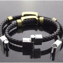 Handmade Naruto Kakashi Ninja Bracelets Leaf Village Logo Cosplay Accessories Woven hand strap