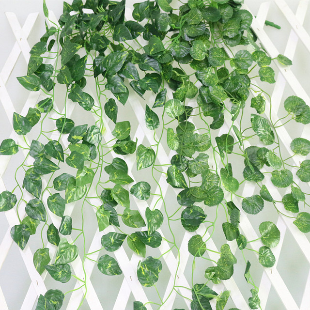 Flone Artificial Flowers Simulation Green Money Plant Hanging Rattan Vine Ye Teng For Home