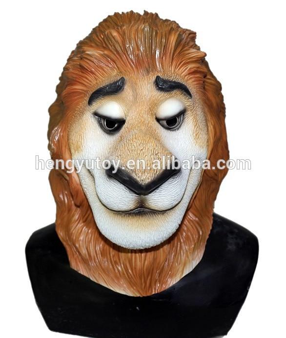 Funny Halloween Animal Cosplay Latex Cute Masquerade Rubber Zootopia Head Mask