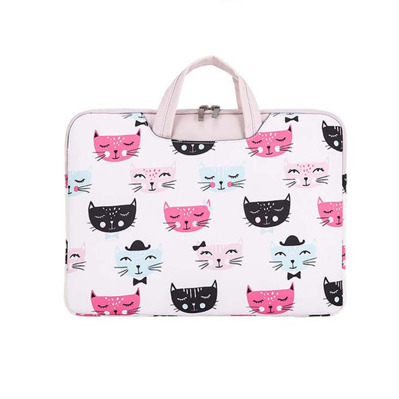 "Portable laptop bag  cute cartoon Print  Hangbag case For 13 14 15.6 ""notebook  Lady Case Pouch For MacBook Air Pro 13.3 ""