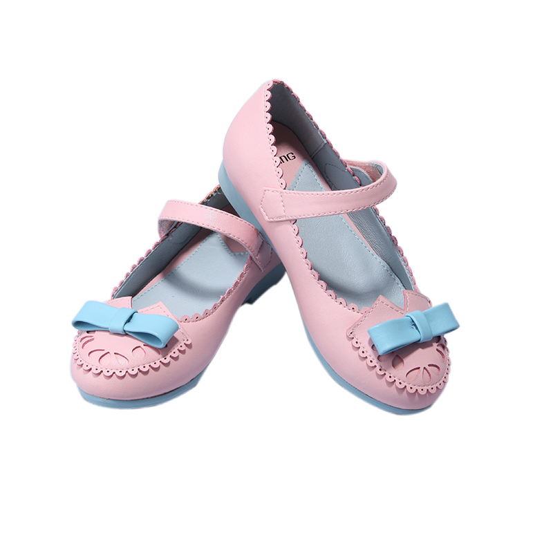 new bowknot sandal for little girl in 2018 catwalk children shoes leather shoes fastening shoes the little old lady in saint tropez