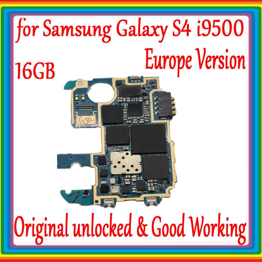 EU Version for <font><b>Samsung</b></font> <font><b>Galaxy</b></font> <font><b>S4</b></font> i9500 Motherboard with Android System,16GB Original unlocked for <font><b>Samsung</b></font> <font><b>S4</b></font> i9500 Logic <font><b>board</b></font> image